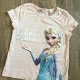 футболка для девочки 4-6 лет Elsa frozen холодное сердце , довжина 40 см