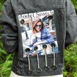 Джинсовая куртка 42 - 46 две расцветки