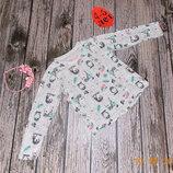 Гламурный фирменный реглан для девочки 4-5 лет,104-110 см