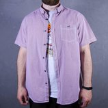 Мужская рубашка в клетку, летняя рубашка с коротким рукавом