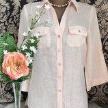 Пудровая льняная блузка из льна ANTONELLE, s-m.
