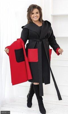 Комплект Жилет и пальто кашемир 48-52,54-58