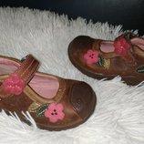 Clarks туфлі 23 р по ст 14.7 см шкіра хороший стан