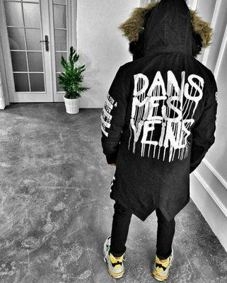 Хит сезона. Топ качество. Стильная мужская куртка зимняя парка OPEN черная 0-104