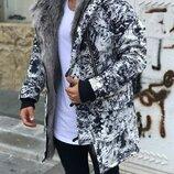 Хит сезона. Топ качество. Стильная мужская куртка зимняя OPEN городской камуфляж 0-103