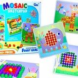 Детская мозаика 240 фишки 8 трафаретов