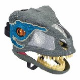 Jurassic World Интерактивная маска динозавра Велоцираптор FMB74 Chomp 'N Roar Mask Velociraptor blue
