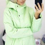 Женская теплая куртка плащевка канада на синтепоне размеры батал скл.1 арт. 58531