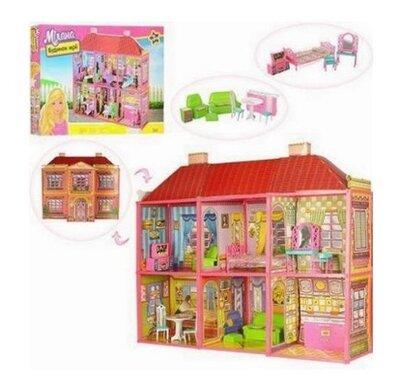 Кукольный домик 6983 108х93х37, 2 этажа, 6 комнат, мебель