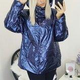 Женская куртка плащевка фольга на синтепоне большие хл размеры скл.1 арт.58533