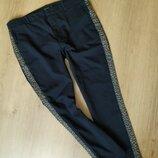Черные штаны с полосками от Zara