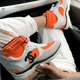 Кроссовки женские Chanel Sneakers Hight Orange