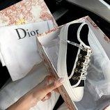 Кроссовки женские Dior Low Top Black