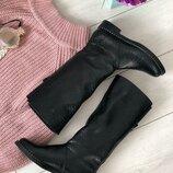 Вт4413018Ез Зимние женские кожаные сапоги черные еврозима