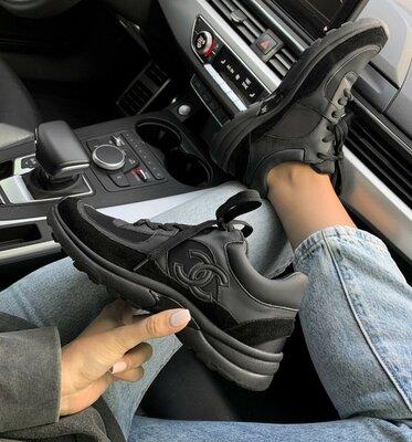 Кроссовки женские Chanel Sneakers Low Black