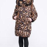 Детская зимняя куртка для девочек X-WOYZ 8260 Размеры 122- 158
