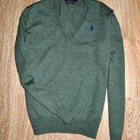 Стильный джемпер,пуловер люксового бренда ralph lauren 100% шерсть мериноса