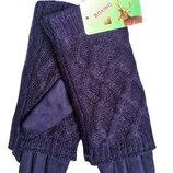перчатки женские синие