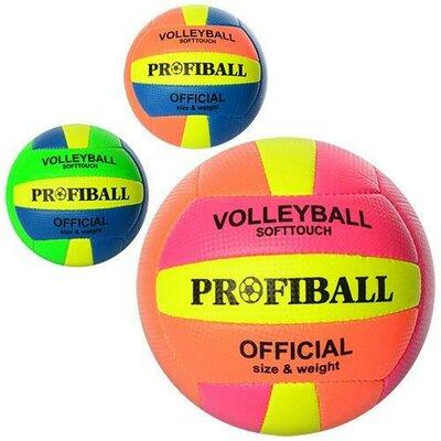 Мяч волейбольный Profiball 1102 размер 5, PU 3 цвета