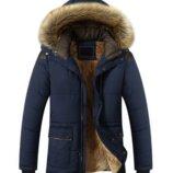 Зимняя мужская куртка парка на флисе 4 цвета