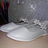 Нарядные туфли лодочки на девочку р. 31- 20см