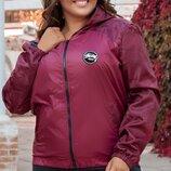 Женская куртка ветровка плащевка принт жакард размеры батал скл.1 арт.58567