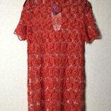 Шикарное ажурное пляжное платье