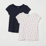 Комплект футболок на девочку H&M хлопок