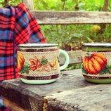 кружка в декоративном термо чехле кружка декоративная чехол на чашку кружка тыква эмаль