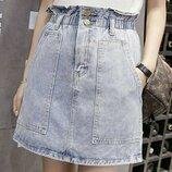 Под заказ Юбка джинсовая 2 цвета S-XL