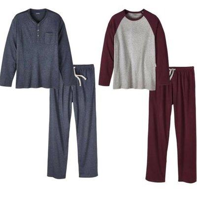 Шикарная мужская пижама домашний костюм, хлопок модал Livergy Германия, реглан штаны