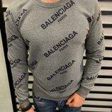 Стильный мужской свитшот Balenciaga, 2 цвета S-M-L-XL-ХХL