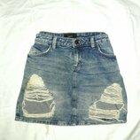 Юбка джинсовая размер 12