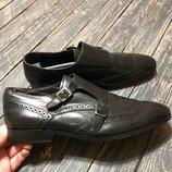 Кожаные туфли монки Paolo Sartori размер 44 Made in Italy