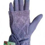 Перчатки женские серый