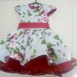 Пышное детское нарядное платье на 1год