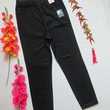 Классные стрейчевые черные джинсы слим без молнии высокая посадка BHS Profile.