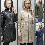 40-74 Демисезонная женская куртка. Женская куртка, Куртка с капюшоном. Большие размеры. ботал
