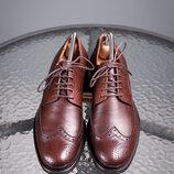 Дерби CafèNoir, Италия 39р мужские броги туфли кожаные