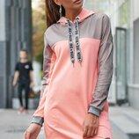 Стильное платье в спортивном стиле,3 цвета