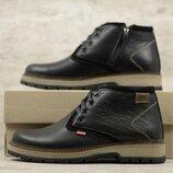 Мужские кожаные ботинки 265 чер