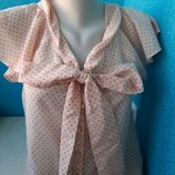Стильная женская блузка бантик H&M