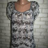 блуза с черепамы р-р 12 бренд Only