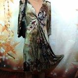 Трикотажное красивое платье 48-50р