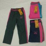Болоновые,утеплённые штаны на флисе для девочек. 98-128 Венгрия