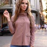 Блуза с воротником 42-56 р-р
