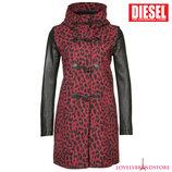 Дафлкот Diesel шерстяное короткое пальто 100% кожа тренч демисезон