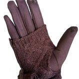 Перчатки женские коричневый