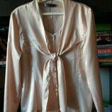 Блуза, блузка, рубашка атласная. Новая