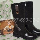 Зимние кожаные сапоги ботинки для девочки Tobi арт.0161 р.33-36 шкіряні зимові чоботи на дівчинку